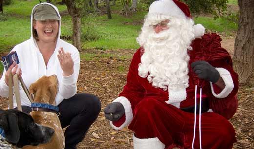 Santa at Runyon Canyon