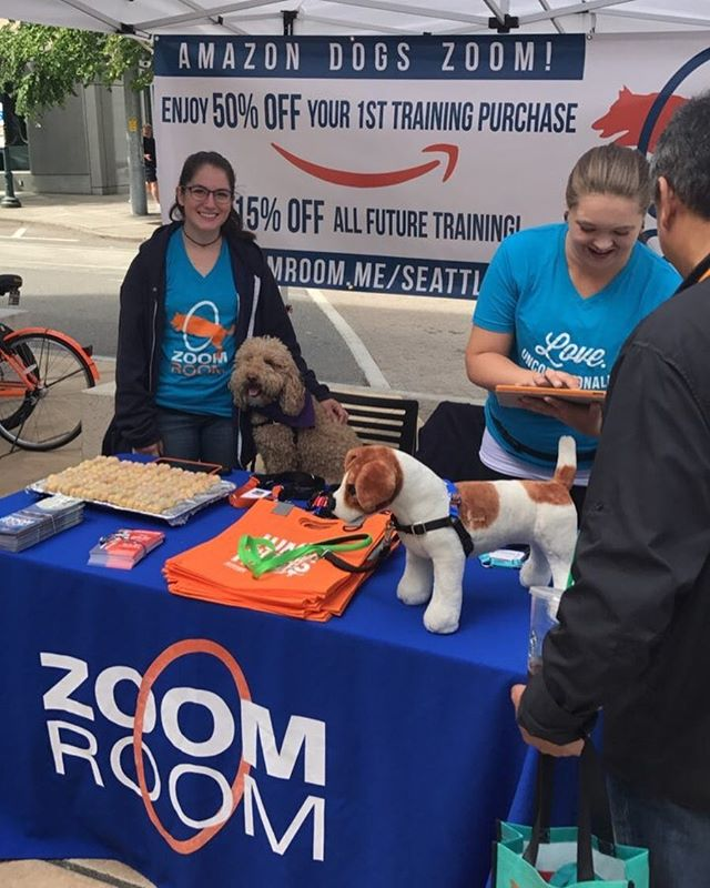 Come find us downtown at Amazon Doggie Days! #amazondogs #amazondoggiedays