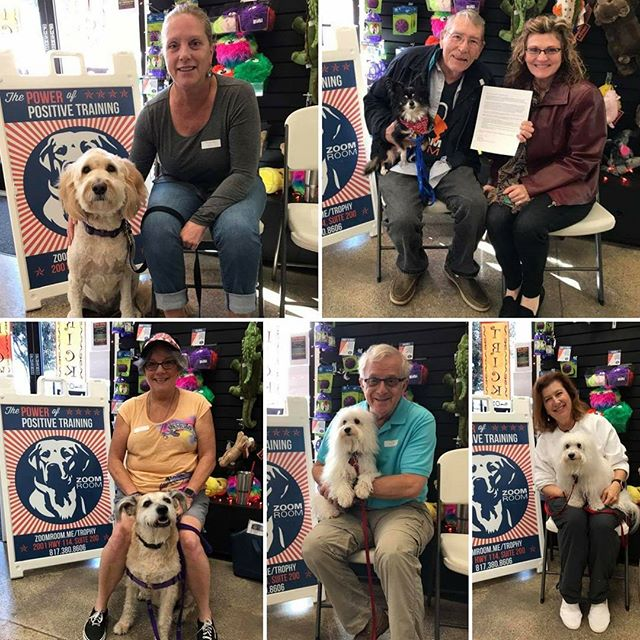 Congrats to our newest therapy dogs! Beulah, Ammo, Java and Lil'Boy passed with flying colors! ☺️