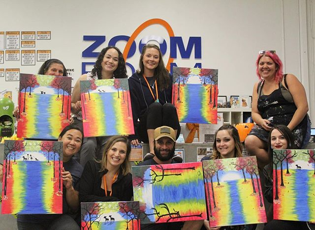 Check out all of our artists from our recent Paint Pawty!! Look at these wonderful masterpieces! Thank you @popupstudiosoc for teaching us t