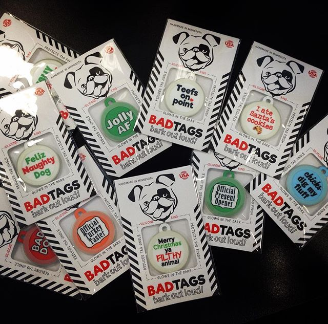 Holiday badtags are now in stock!  Get them before they are gone!  #badtags #holiday #dogtags #madeinusa
